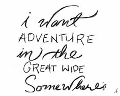 "Beauty and the Beast quotes ""I want adventure in the great wide somewhere"""