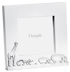 Savane, Picture Frame in Silver Plated. The frame can be customized with a name and/ or a date using a self adhesive engravable silver plated plaque. The engraved plaque is sent with the frame for you to place it at your convenience (ideally at the back of the frame).