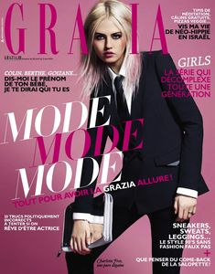 Charlotte Free (IMG Models) becomes the covergirl of French Grazia with a new shoot by photographer Alastair Strong captured with styling from Candice Fauchon. Grazia Magazine, Hair Magazine, Cool Magazine, Magazine Covers, Charlotte Free, I Got U, Le Smoking, Free Kick, Img Models