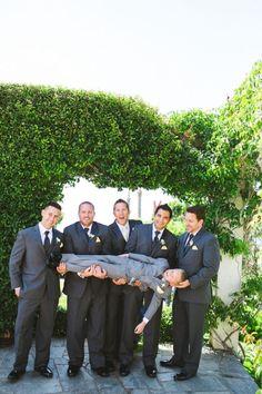 Cute photo of the groomsmen holding up the ring bearer Team Groom, Bridesmaid Dresses, Wedding Dresses, Cute Photos, Photo Poses, Garden Wedding, Groomsmen, Wedding Buffets, Real Weddings