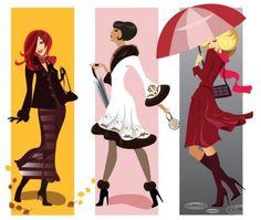fashion girl illustrator 01 vector