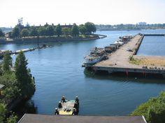 Enalyzer, HQ, Copenhagen. Office view.  Royal Danish Navy HQ  en.wikipedia.org/wiki/Holmen_naval_base
