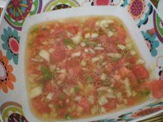 Mi Cocina: PIPIRRANA CON CALDO