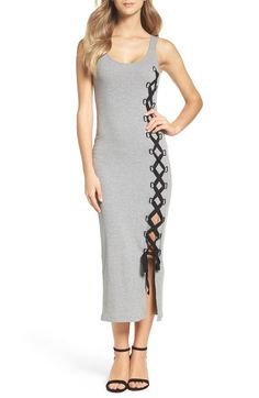 Main Image - French Connection Tommy Lace-Up Midi Dress