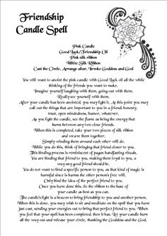 Friendship Candle spell