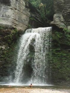 Eagle Cliff Falls is in Havana Glen Park, a privately owned park. The park is half a mile south of the Village of Montour Falls on Havana Glen Road, off of Route 14 in Schuyler Co, NY.  It cost $1 to enter. The trail through the glen to the falls is very pretty. Bring a swimsuit, because you can play in the water if you wish. The park also features a large picnic area and a camping area.--GLWB