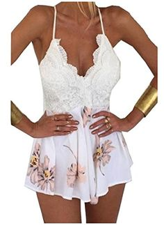 Coolred Women's Beach Lace Splice V Neck Playsuit Shorts ... https://www.amazon.com/dp/B071KWTT94/ref=cm_sw_r_pi_dp_U_x_KcUuAbS4A774F