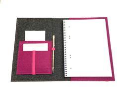DIN A5 - Notizbuchhülle A5 Organizer Notizbuch Block Filz - ein Designerstück von crea--team bei DaWanda