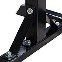 SavingPlus Heavy Duty Adjustable Gym Squat Barbell Power Rack Stand (Black): Amazon.co.uk: Sports & Outdoors