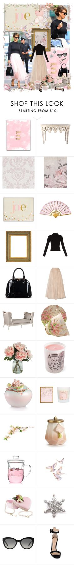 """""""Retro Blooming"""" by claudrine ❤ liked on Polyvore featuring Designers Guild, Ralph Lauren, WALL, Alden, Haider Ackermann, Relaxfeel, Alice + Olivia, Royal Albert, Diptyque and Franz Collection"""