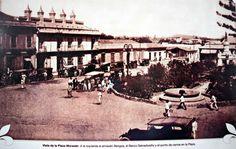 Plaza Morazan en San Salvador al principio de los 1900's