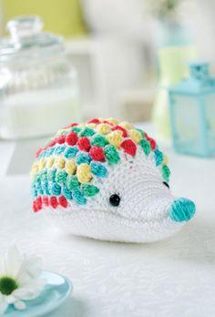 Crochet hedgehog toy-free pattern by Irene Strange.