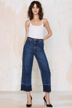 Nasty Gal Denim - Mad Crops Wide Leg Jean