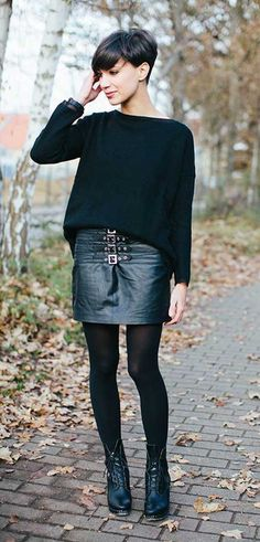 Fashionable Black Pixie Cuts