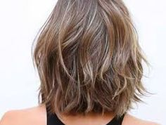 Image result for asymmetrical layered bob mid length hair