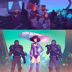 In 2013-2014 back in Russia I worked at Sci-Fi motion comic called Knights of the Void as concept artist, coloring artist, storyboard artist and series director. You can't read it anywhere now, but I am still proud of result, and my time working on it with all the awesome guys was one of the best periods.  Some of the artist I've worked with are now on Instagram too (tagged on photo)!