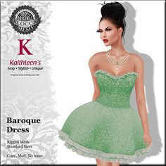 THIRD LIFE [ Frees, Gifts & Hunts ]: KAITHEEN'S - BAROQUE DRESS