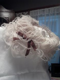 Vintage feathered net Hat