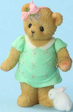 Cherished Teddies Pregnant Mom with Bunny - Worth the Wait