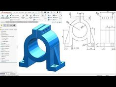we will learn about Extruded boss base, Extruded cut, Fillet,Mirror, Rib and Appearance setting features in Solidworks. modelling in Solidworks Solidworks Tutorial, Mechanical Engineering Design, Isometric Drawing, Autodesk Inventor, Working Blue, Material Science, Technical Drawings, Patent Drawing, Project