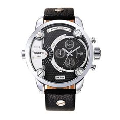 >> Click to Buy << Men Watch Clock NORTH Gentlemanly Sports Leather Waterproof Quartz Pulse Male Wrist Watch Elegant Hot Selling High Qulity M4 #Affiliate