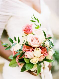 All roses- still classic, but with a semi-cascade and organic shape. #wedding #bouquet