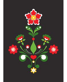 Traditional Kurbits print,