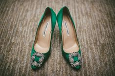 emerald green things | green wedding shoes, emerald wedding pumps, emerald manolos, 12 things ...