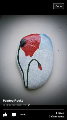 Lovely garden rock- Red Poppy for Veterans It's no wonder that there are so lots of amazing rock Amazing Painted Rocks Houses Ideas You'll LoveHow to a stack of pebbles. Pebble Painting, Pebble Art, Stone Painting, Stone Crafts, Rock Crafts, Arts And Crafts, Poppy Craft For Kids, Caillou Roche, Art Rupestre