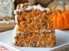Pumpkin carrot cake - using this as an idea for a gluten free/ dairy free cake version