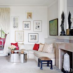 An eclectically chic sitting area | archdigest.com