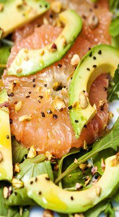 Grapefruit & Avocado Salad with Pistachios