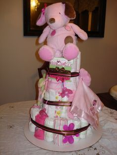 Baby Shower Ideas For A Girl | ... cakes, ideas for a diaper came for girl, dipercake, diapers cakes baby
