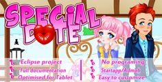 Special Date  Couple Dress Up Game . - Overview :Couple Dress Up Game is a full game source code created with eclipse.It includes Startapp and Admob Ads ( Banner and Interstitial) and no programing skills needed to create your own game just edit the graphics, put your ads ID and change the package name.The game was optimised for