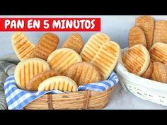 Cómo hacer PAN EN 5 MINUTOS. Lo hago todos los días. ¡Ahorra tiempo y dinero! - YouTube Pan Bread, Bread Baking, Milk Jelly, Pan Rapido, Sin Gluten, Cake Cookies, Deli, Baked Goods, Baking Recipes