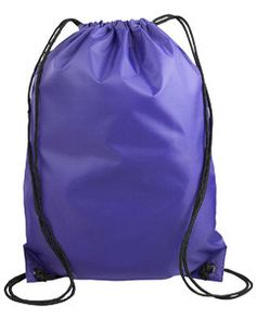 Liberty Bags Value Drawstring Backpack 8886 Purple