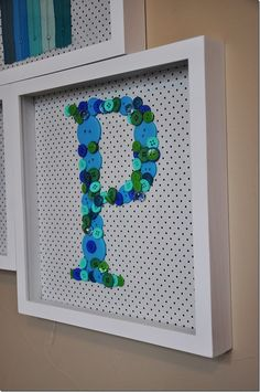 could make the letters out of anything!!  so cute! want to do my initial and my future-husband's initial side by side!