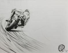 """Everything You've Got"" - Marco Simoncelli www.motorart27.com #SuperSic #Simoncelli #250cc #WorldChampion #Gilera #Aprilla #Honda #Gresini #Sepang #Brno #58 #Misano #Mugello #MotoGP #500cc #WorldChampion #Italia #IlDottore #TheDoctor #motorcycleracingart #artistcommunity #successartist #growyouraudience #artempire #ink #inkillustration #illustration"