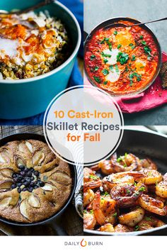 From frittatas to baked mac and cheese, these cast-iron skillet recipes make delicious and hearty meals, and satisfy your cold-weather cravings.  via @dailyburn