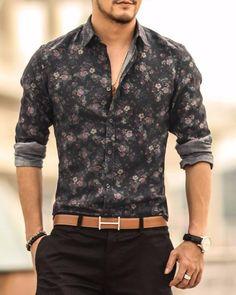 Men's Floral Long Sleeve Shirt – Zorket