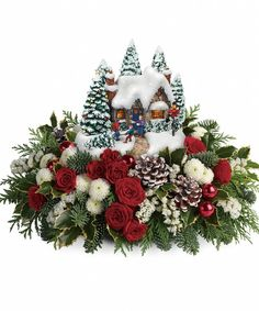 Order Thomas Kinkade's Jolly Santa Bouquet Thomas Kinkade from Summerhill Florist Ltd, your local Airdrie florist. Send Thomas Kinkade's Jolly Santa Bouquet Thomas Kinkade for fresh and fast flower delivery throughout Airdrie, AB area. Christmas Plants, Christmas Flowers, Christmas Mugs, Country Christmas, Christmas Wreaths, Christmas Flower Arrangements, Christmas Centerpieces, Floral Arrangements, Christmas Decorations
