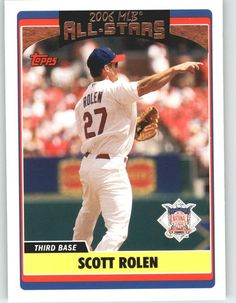 2006 Topps Update 255 Scott Rolen AS - St. Louis Cardinals (All Star) (Baseball Cards) >>> This is an Amazon Affiliate link. Find out more about the great product at the image link.