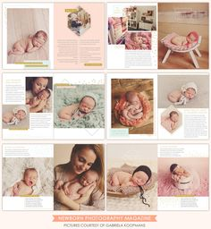 Newborn Digital Magazine | Welcome baby | Photoshop templates for photographers by Birdesign