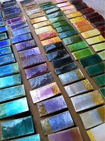 Pretty colours, but also a bog about enamel by Sandra McEwen. Check it out, it's really cool.