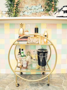 BYOB Cocktail Emporium Shows Us How to Stock and Style a Bar Cart: Have you mastered the art of the bar cart? First, you have to find one. Once/if you get past that first hurdle, it's on to the mammoth task of stocking said cart with all the tools that look vaguely familiar from hazy evenings at mixology (ugh) bars. And then you need to make it look cute on top of that. Because it's a lot harder than it looks, we enlisted help to guide the way. | coveteur.com