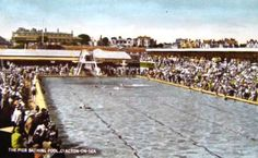 The Pier Bathing Pool Clacton on Sea British Swimming, Empty Pool, Butlins, England Uk, Swimming Pools, Dolores Park, Ads, Watercolor, River