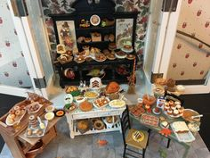 Dollhouse miniature Thanksgiving