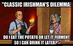 Drinking potatoes