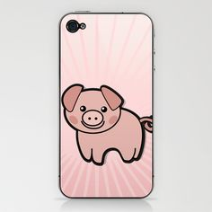 Pig Pink iPhone & iPod Skin by ModForLove - $15.00