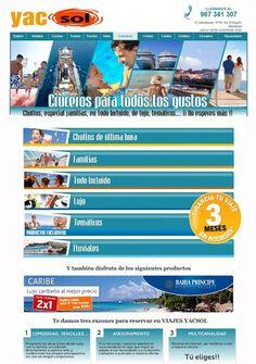 www.yacsol.com la plataforma de haya travel para reservar tus vacaciones como si estuvieras en las propias agencias , lo mejor de la agencia y lo mejor de los viajes on line